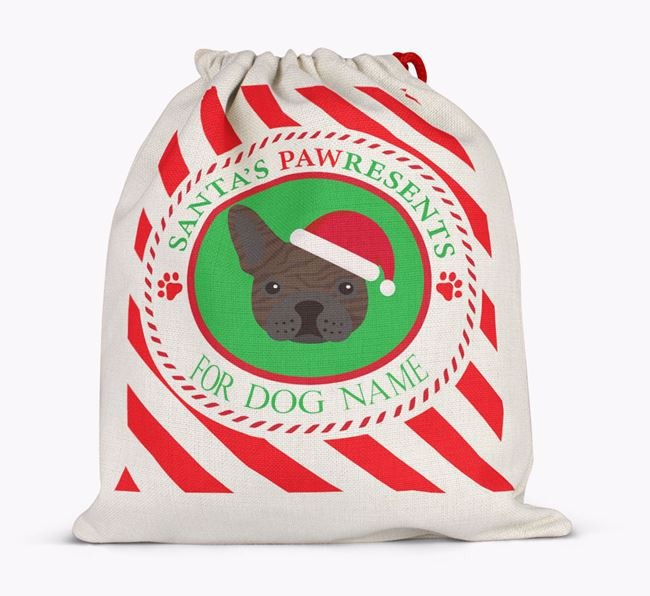 Santa Sack 'Pawresents' - Personalized for Your French Bulldog