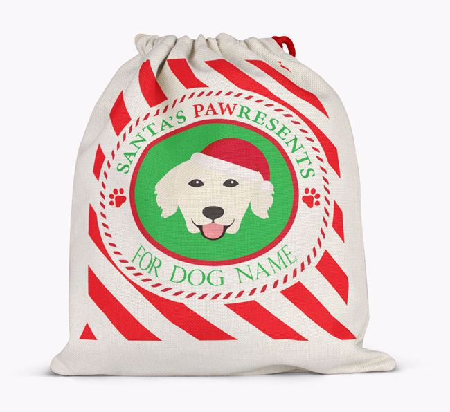 Santa Sack 'Pawresents' - Personalized for Your Golden Retriever