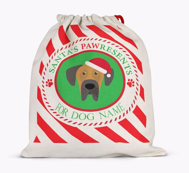 Santa Sack 'Pawresents' - Personalized for Your Dog