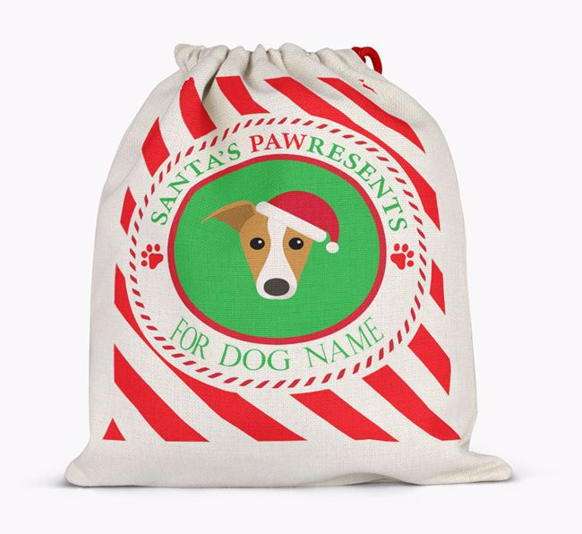 Santa Sack 'Pawresents' - Personalized for Your Greyhound