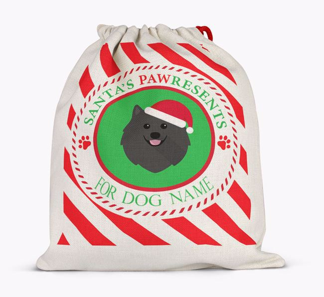Santa Sack 'Pawresents' - Personalized for Your Pomeranian