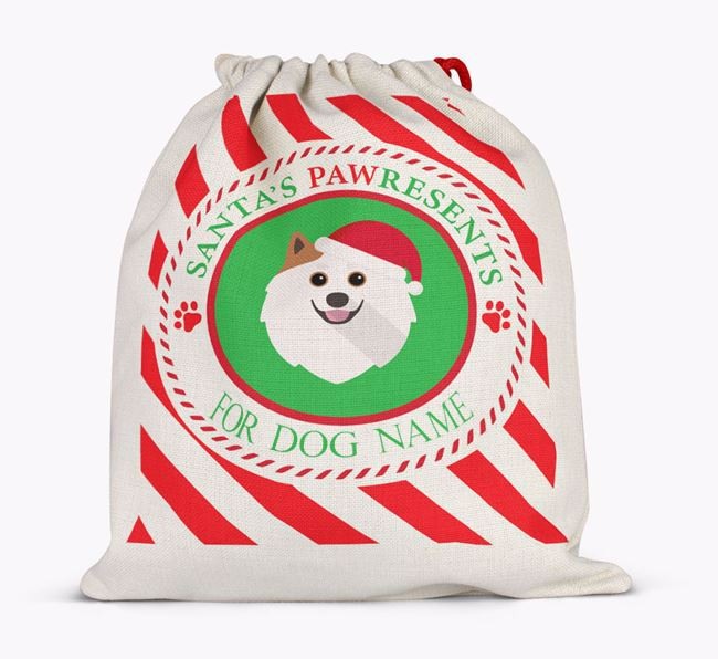Santa Sack 'Pawresents' - Personalised for Your Pomeranian