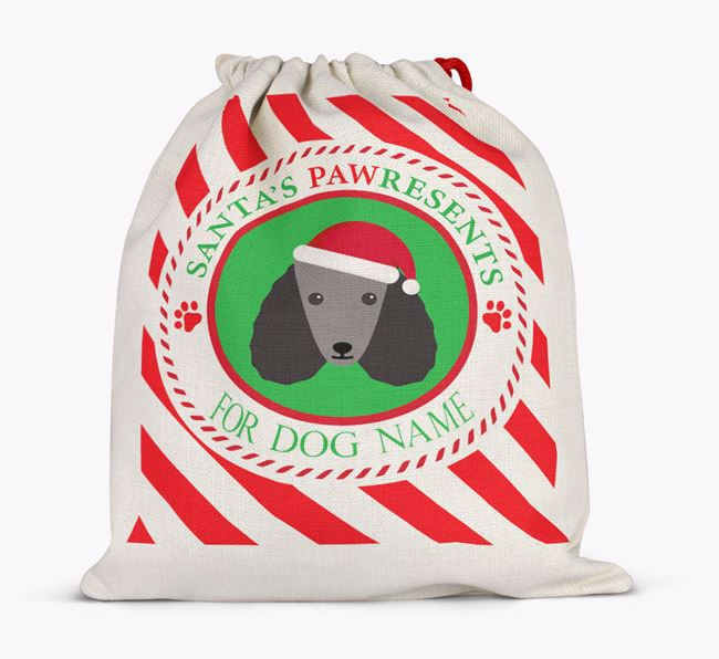 Santa Sack 'Pawresents' - Personalised for Your Poodle