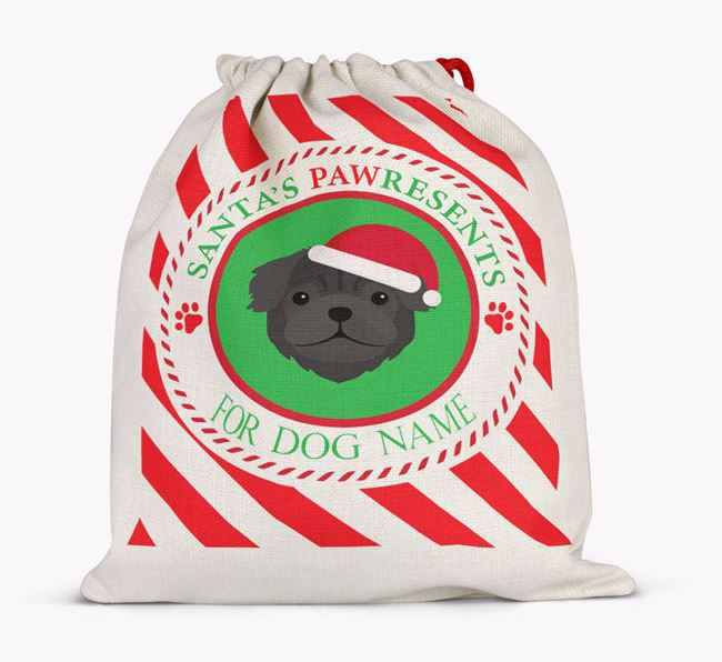 Santa Sack 'Pawresents' - Personalized for Your Pug