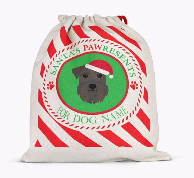 Santa Sack 'Pawresents' - Personalised for Your Schnauzer