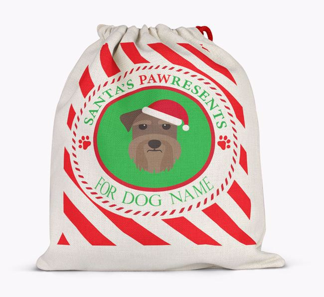 Santa Sack 'Pawresents' - Personalized for Your Schnauzer