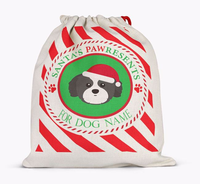 Santa Sack 'Pawresents' - Personalized for Your Shih Tzu