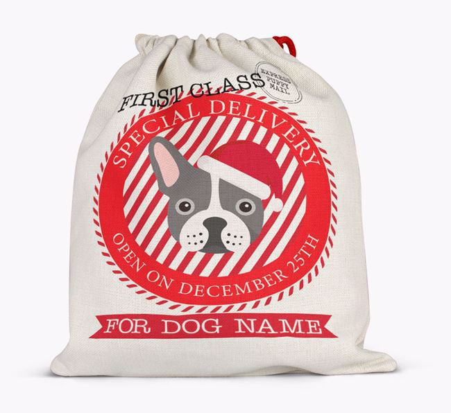 Santa Sack 'Special Delivery' - Personalised for Your French Bulldog