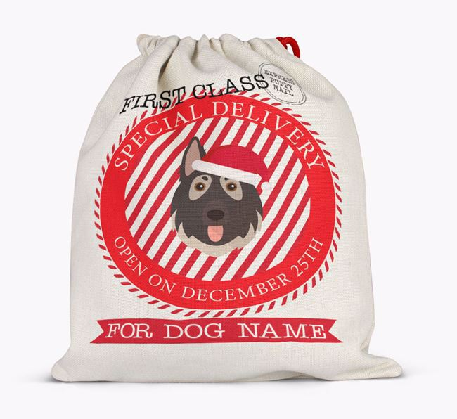 'Special Delivery' - Personalized Santa Sack for your German Shepherd
