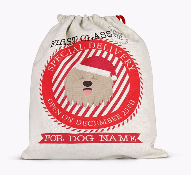 Santa Sack 'Special Delivery' - Personalised for Your Komondor