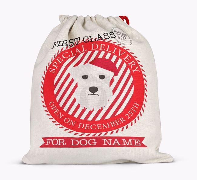 Santa Sack 'Special Delivery' - Personalised for Your Schnauzer