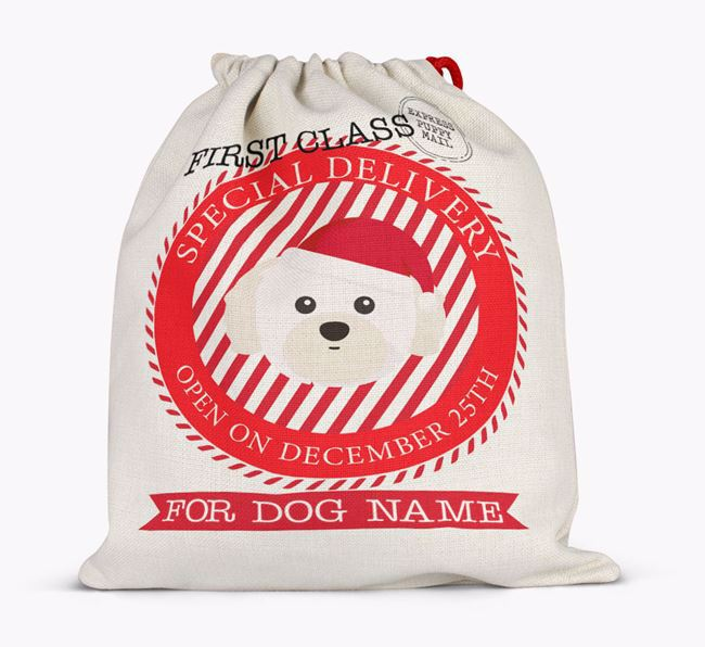 Santa Sack 'Special Delivery' - Personalised for Your Shih Tzu