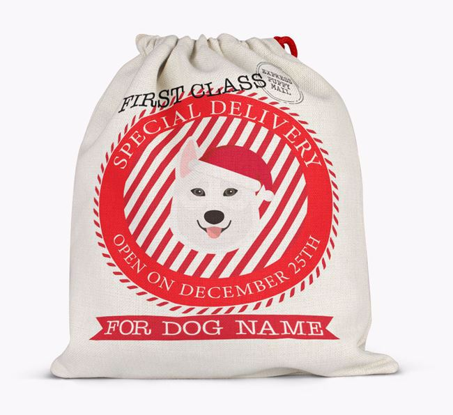 Santa Sack 'Special Delivery' - Personalised for Your Tamaskan