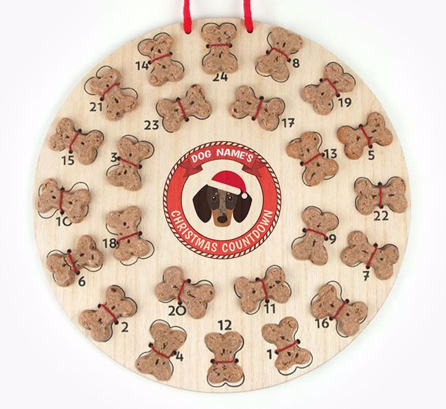 Advent Calendar 'Your Dog's Christmas Countdown' - Personalised with your Dachshund