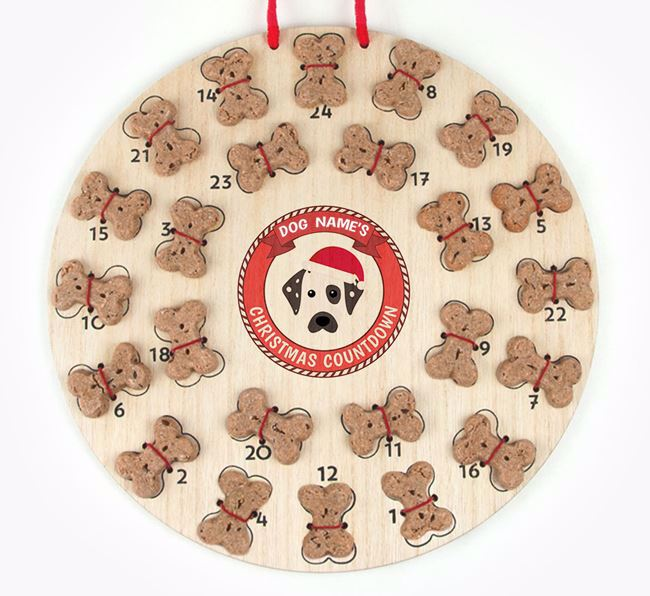 Advent Calendar 'Your Dog's Christmas Countdown' - Personalised with your Dalmatian