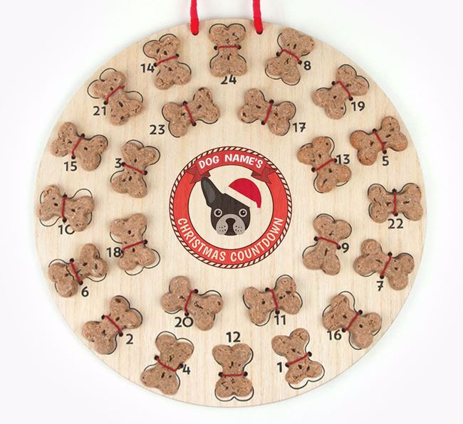Advent Calendar 'Your Dog's Christmas Countdown' - Personalised with your French Bulldog