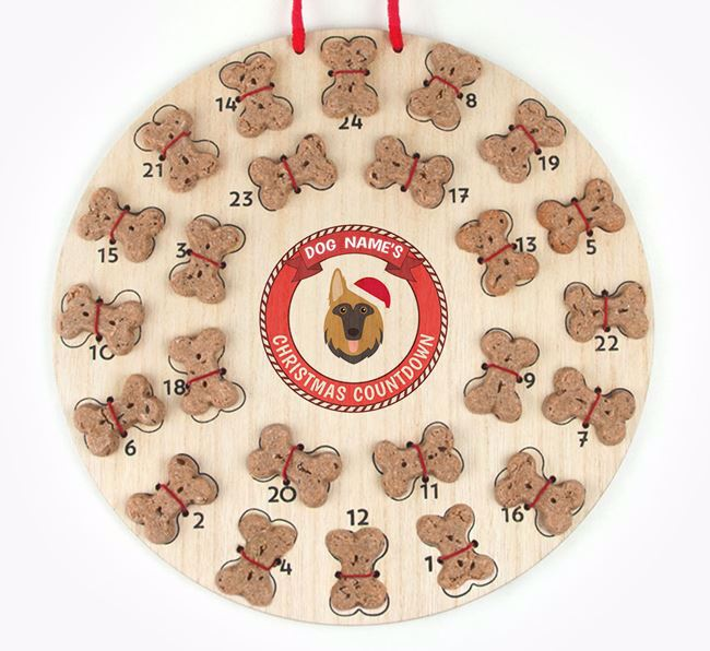 Advent Calendar 'Your Dog's Christmas Countdown' - Personalised with your German Shepherd