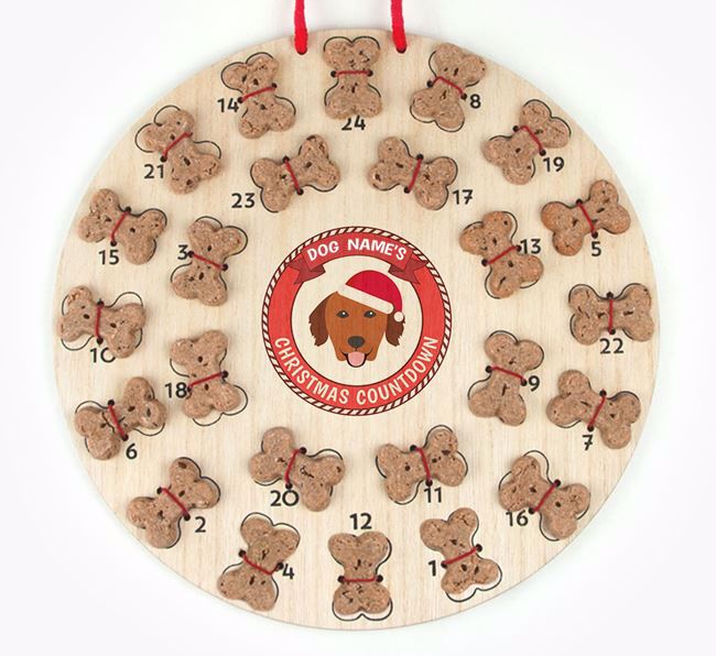 Advent Calendar 'Your Dog's Christmas Countdown' - Personalised with your Golden Retriever