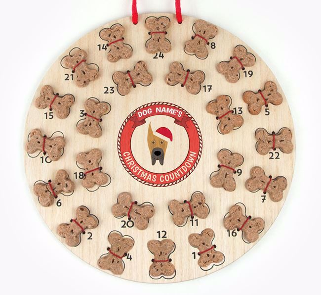 Advent Calendar 'Your Dog's Christmas Countdown' - Personalised with your Great Dane