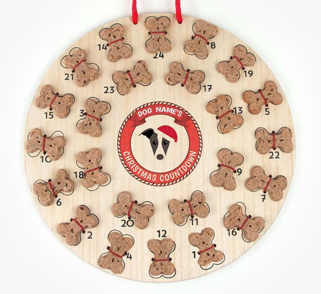 Advent Calendar 'Your Dog's Christmas Countdown' - Personalised with your Greyhound