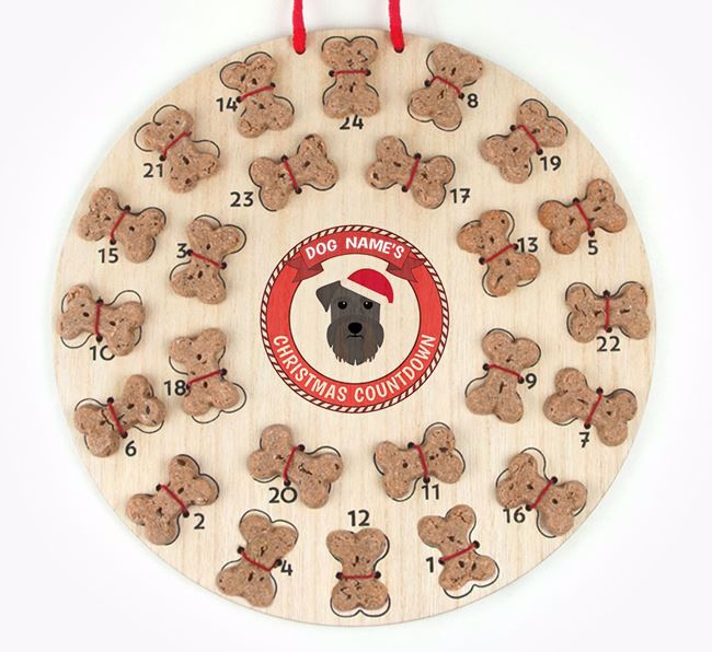 Advent Calendar 'Your Dog's Christmas Countdown' - Personalised with your Schnauzer