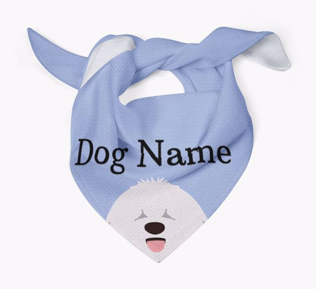 Personalised Dog Bandana with Peeking Yappicons for Your Dog
