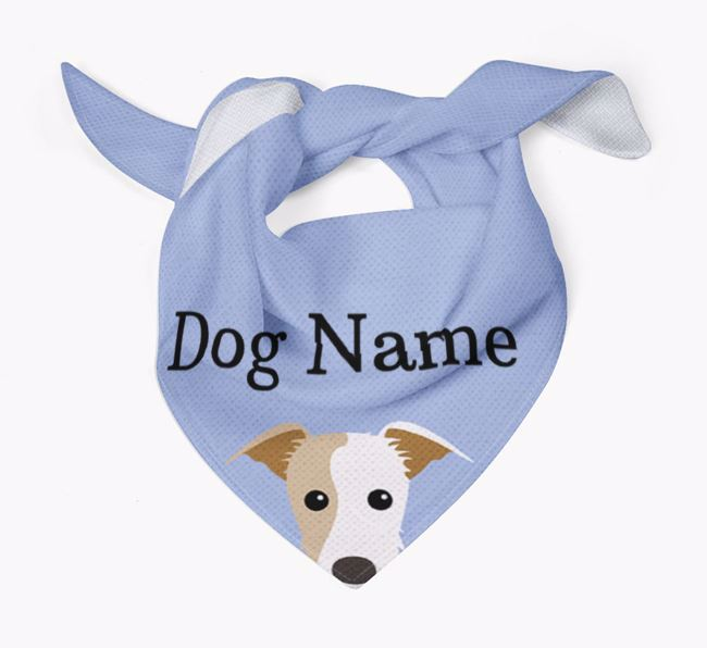 Personalized Dog Bandana with Peeking Yappicons for Your Dog