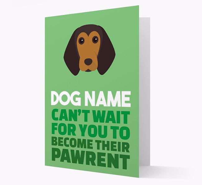 'Happy Anniversary Future Dog Parent' Card with Beagle Icon