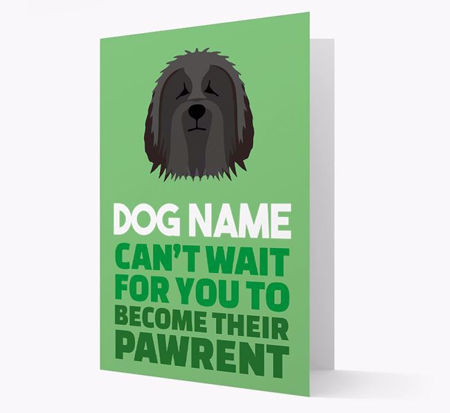 'Happy Anniversary Future Dog Parent' Card with Bearded Collie Icon
