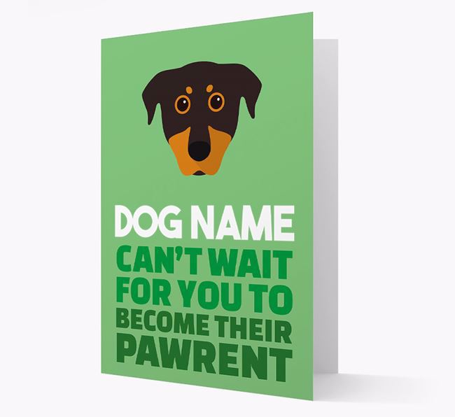 'Happy Anniversary Future Dog Parent' Card with Beauceron Icon