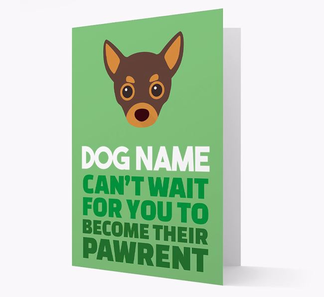 'Happy Anniversary Future Dog Parent' Card with Chihuahua Icon