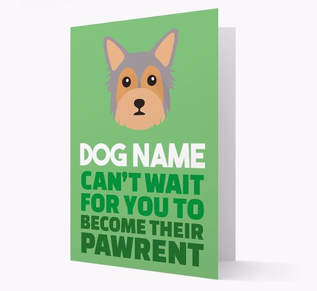 'Happy Anniversary Future Dog Parent' Card with Chorkie Icon