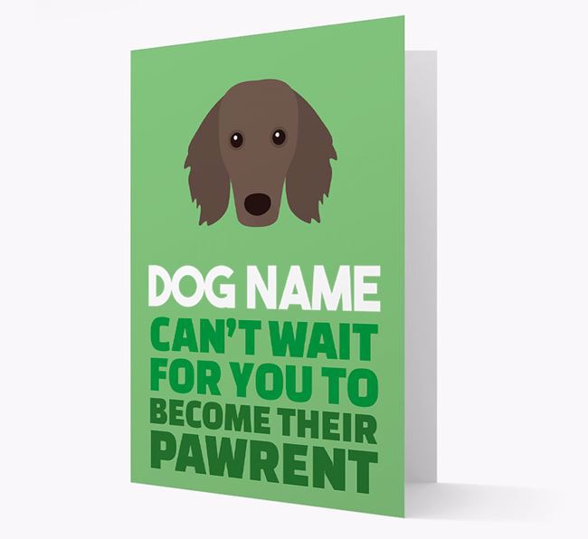 'Happy Anniversary Future Dog Parent' Card with Dachshund Icon