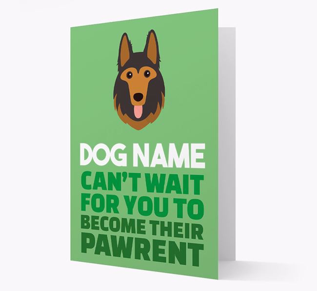 'Happy Anniversary Future Dog Parent' Card with German Shepherd Icon