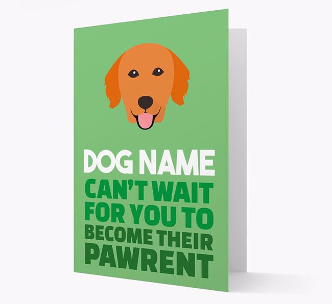 'Happy Anniversary Future Dog Parent' Card with Golden Retriever Icon