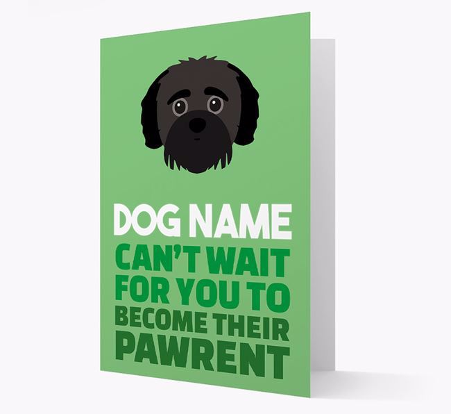 'Happy Anniversary Future Dog Parent' Card with Jack-A-Poo Icon