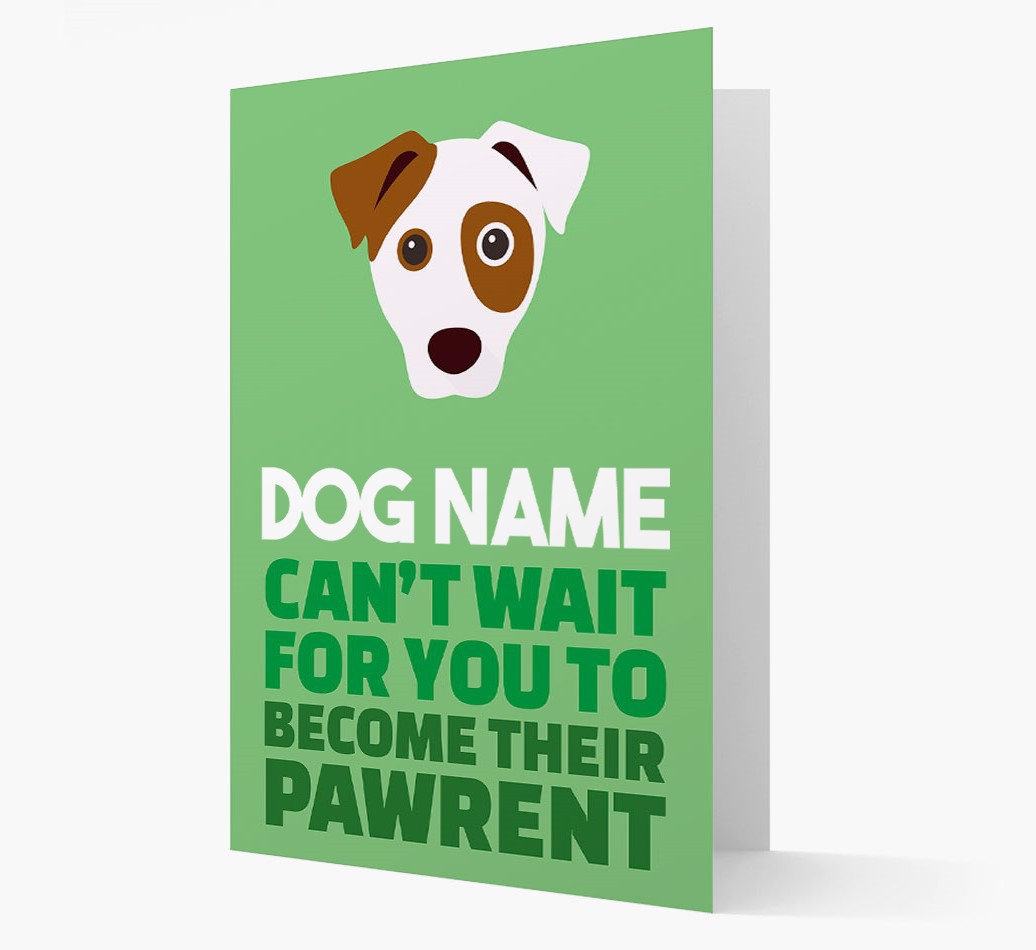 'Happy Anniversary Future Dog Parent' Card with Dog Icon