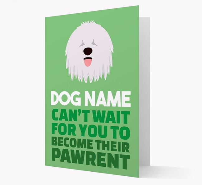 'Happy Anniversary Future Dog Parent' Card with Komondor Icon