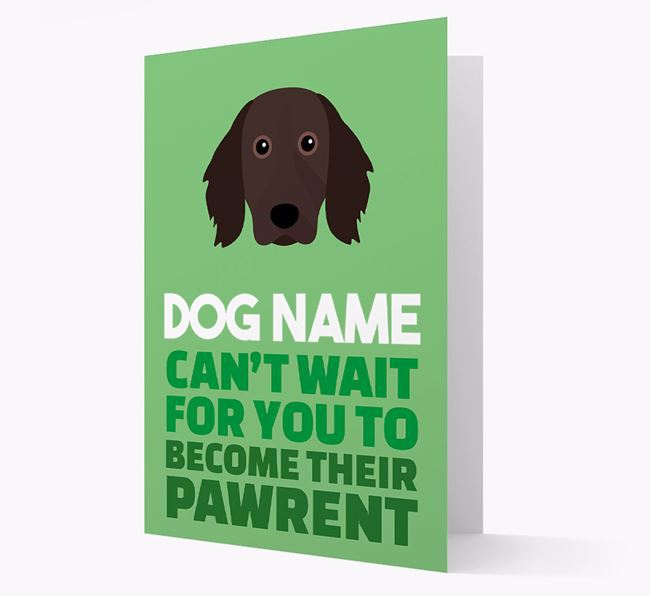 'Happy Anniversary Future Dog Parent' Card with Large Munsterlander Icon
