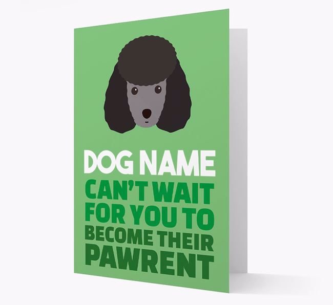'Happy Anniversary Future Dog Parent' Card with Miniature Poodle Icon