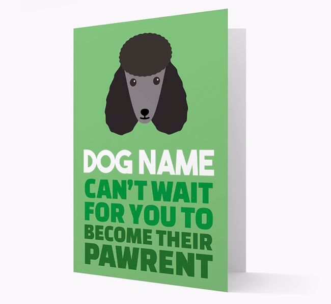 'Happy Anniversary Future Dog Parent' Card with Poodle Icon