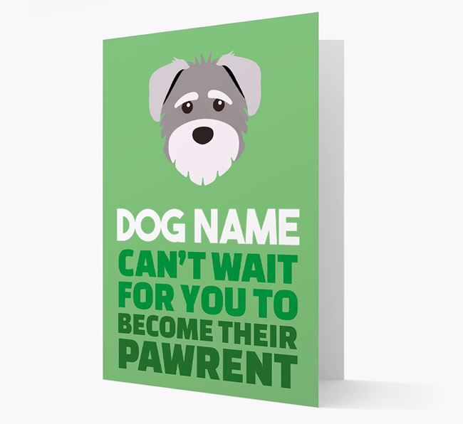 'Happy Anniversary Future Dog Parent' Card with Schnoodle Icon
