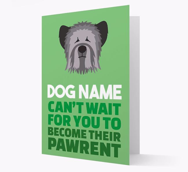 'Happy Anniversary Future Dog Parent' Card with Skye Terrier Icon