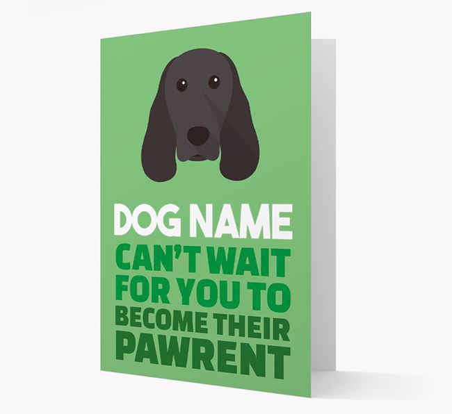 'Happy Anniversary Future Dog Parent' Card with Springer Spaniel Icon