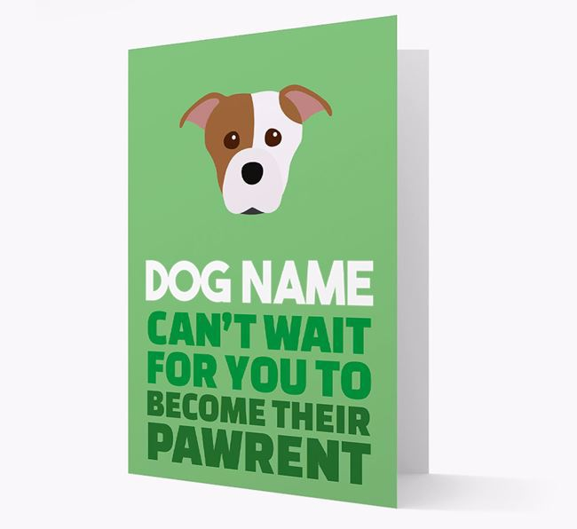 'Happy Anniversary Future Dog Parent' Card with Staffordshire Bull Terrier Icon