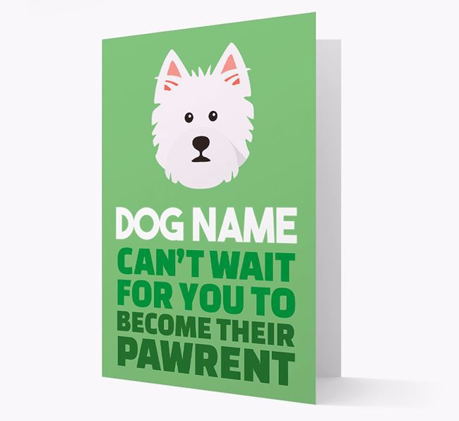 'Happy Anniversary Future Dog Parent' Card with West Highland White Terrier Icon