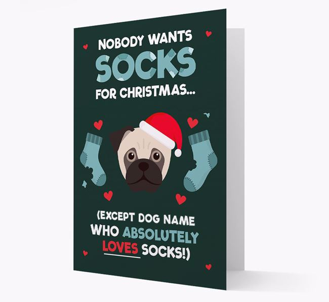 'Nobody Wants Socks for Christmas' - Personalized Jug Christmas Card