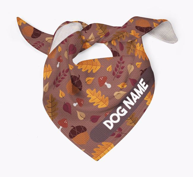 Autumn Leaves Pattern Bandana for your French Bull Jack