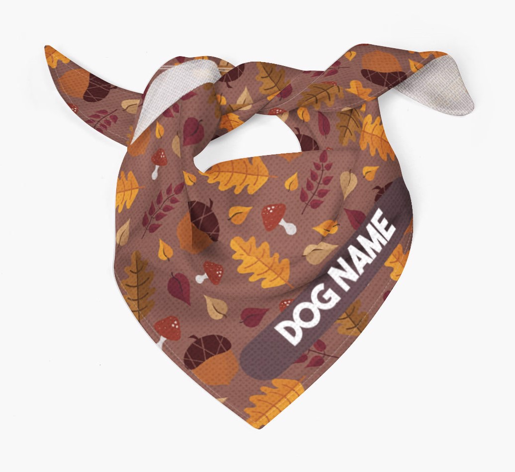 Autumn Leaves Pattern Bandana for your Dog Tied