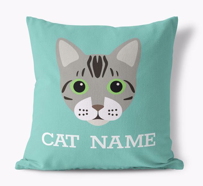 'Bengal Icon' - Personalized Canvas Pillow
